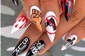 Des nail arts créatifs en soutien au Black Lives Matter