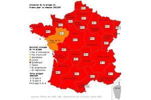 L'épidémie de grippe ne faiblit pas en France métropolitaine
