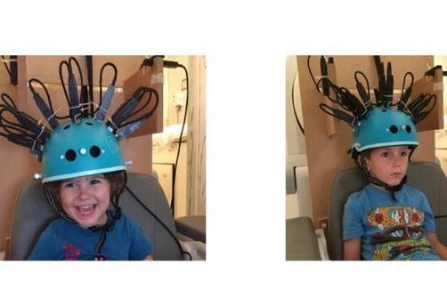 Un casque de vélo modifié pour analyser l'activité cérébrale des enfants