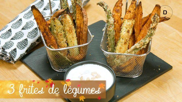 3 recettes de frites de légumes au four