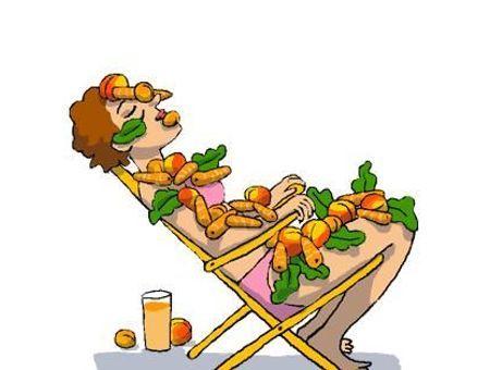 Il existe des aliments qui protègent la peau du soleil