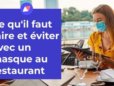 Les gestes à adopter avec un masque au restaurant