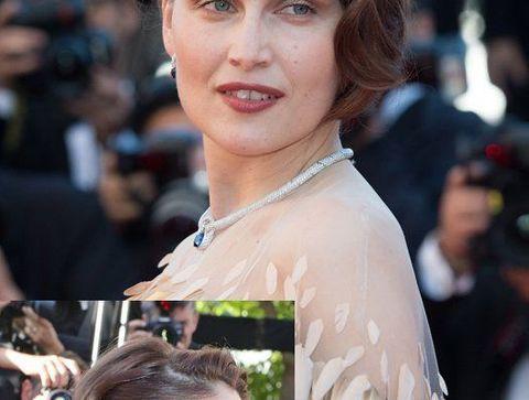 Chignon Retro Laetitia Casta Cannes 2013 Festival De Cannes 2015 50 Coiffures Haute Couture