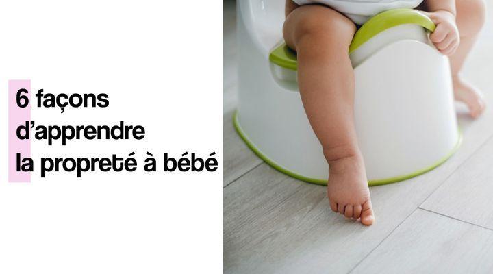 6 façons d'apprendre la propreté à bébé