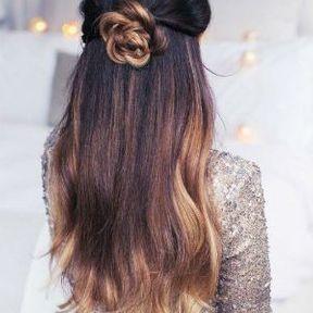 Modèle coiffure cheveux longs