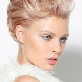 Coupe courte rose gold