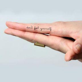 Tattoo citation discrète