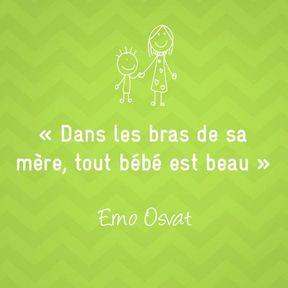 Citation sur la maternité de Erno Osvat