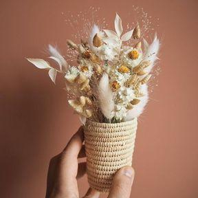 Pot de fleur tressé
