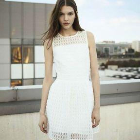 Robe blanche Maje printemps été 2014