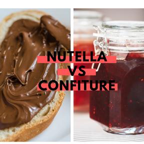 Calories :Nutella vs confiture