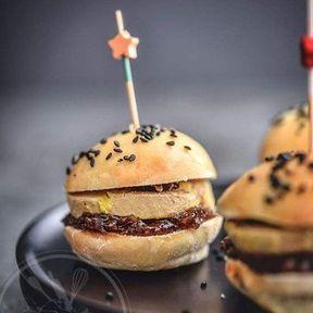 Minis burgers au foie gras et confit de figue