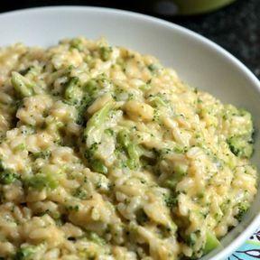 Risotto aux brocolis et parmesan