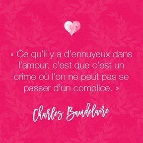 Citation amour de Charles Baudelaire