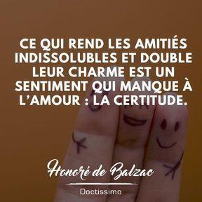 Citation amitié de Honoré de Balzac