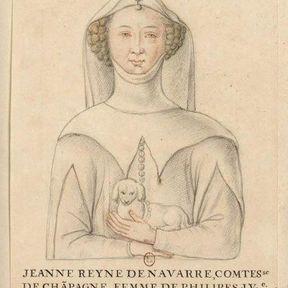 En 1292, Jeanne de Navarre à la Tour de Nesle